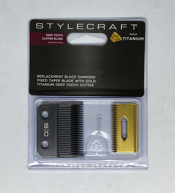STYLECRAFT CLIPPER REPLACEMENT BLADE - DEEP TOOTH (GOLD TITANIUM)