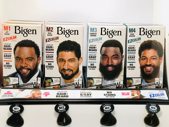 BIGEN EZ Color for Men for Beard and Hair - Display Set ( 12 PCs ) - Palms Fashion