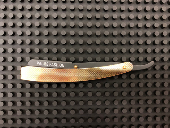 Professional Straight Edge Barber Razor - Gold/Black - Palms Fashion Inc.