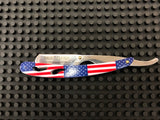 Professional Straight Edge Barber Razor - American Flag - Palms Fashion