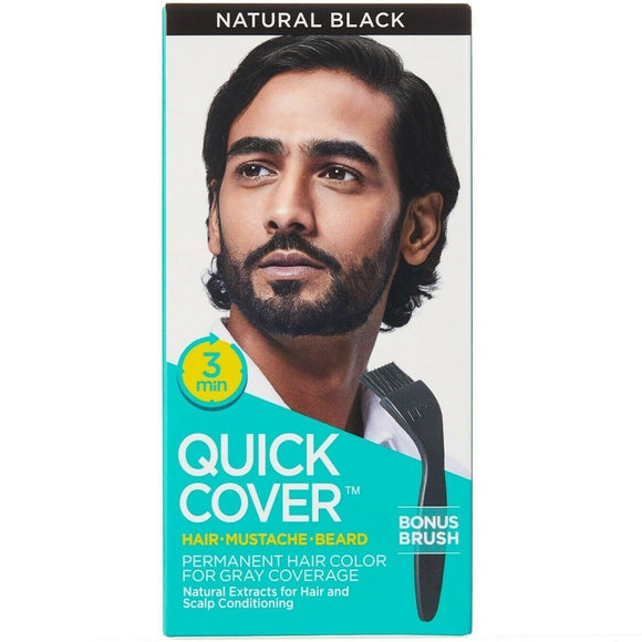 KISS QUICK COVER FOR MEN PERMANENT COLOR - NATURAL BLACK (2 Pack) - Palms Fashion