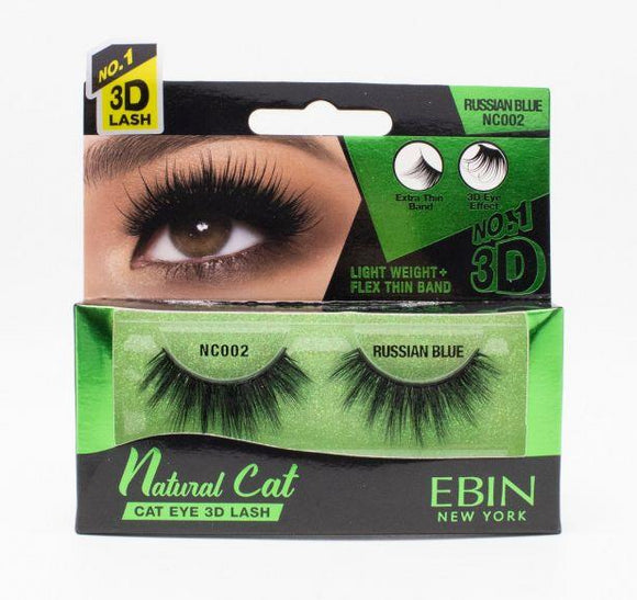 EBIN 3D Eyelash Natural Cat - 12 Kinds - Palms Fashion Inc.