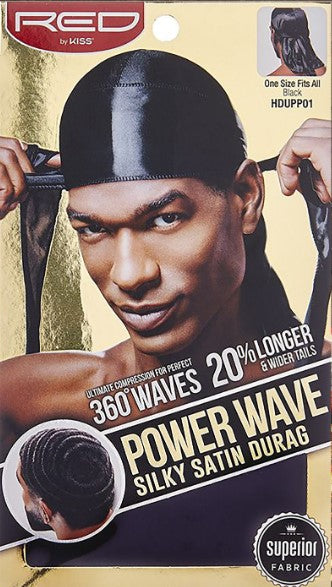 Kiss Power Wave Silkly Satin Durag - 12pcs - Palms Fashion