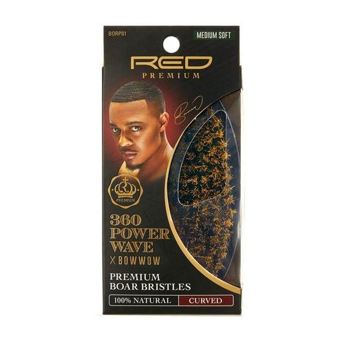 RED Premium 360 Power Wave Brush X Bow Wow - Med Soft Palm #BORP01 - Palms Fashion Inc.