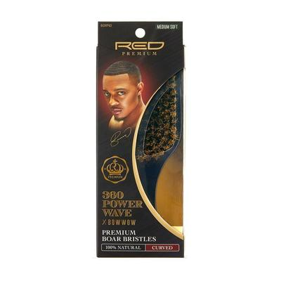 RED Premium 360 Power Wave Brush X Bow Wow - Med Soft Club #BORP02 - Palms Fashion Inc.