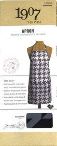 1907 by FROMM - TRENDY HOUNDSTOOTH PATTERN APRON #NTA024 - Palms Fashion Inc.