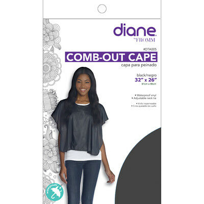 DIANE COMB-OUT CAPE - BLACK #DTA005 - Palms Fashion Inc.