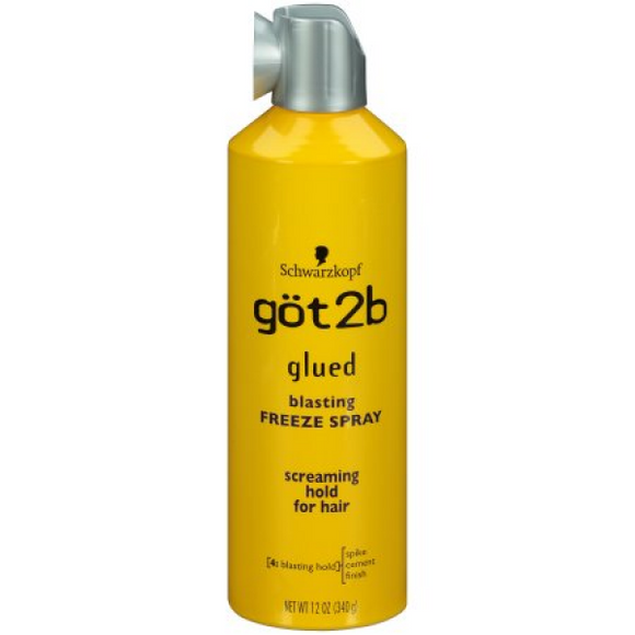 GOT2B GLUE BLASTING FREEZE SPRAY - SCREAMING HOLD 12 OZ - Palms Fashion Inc.