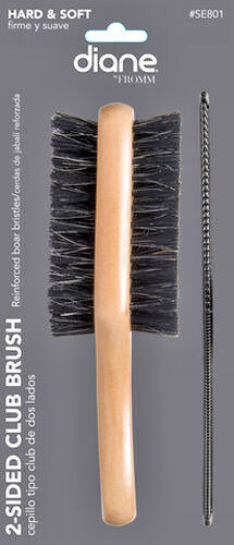 DIANE HARD & SOFT REINFORCED BOAR 2-SIDE BRUSH WITH FREE 7