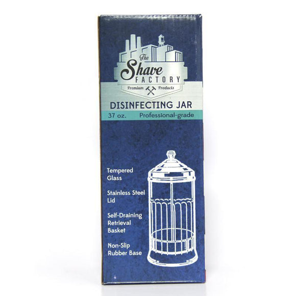 Shave Factory Professional Grade LARGE Disinfectant Jar 37oz - Palms Fashion Inc.