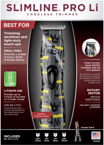 Andis Slimline Pro Li T-Blade Cordless Nation Trimmer # 32680 - Palms Fashion Inc.
