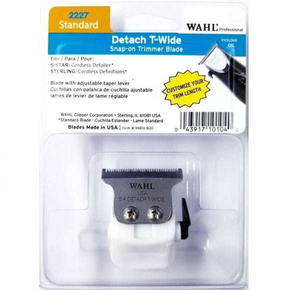 WAHL DETACH T-WIDE SNAP-ON TRIMMER BLADE FOR CORDLESS DETAILER # 2227 - Palms Fashion