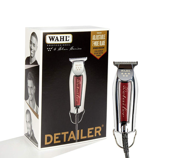 Wahl 5 Star Detailer Trimmer Silver/Red #8081 - Palms Fashion
