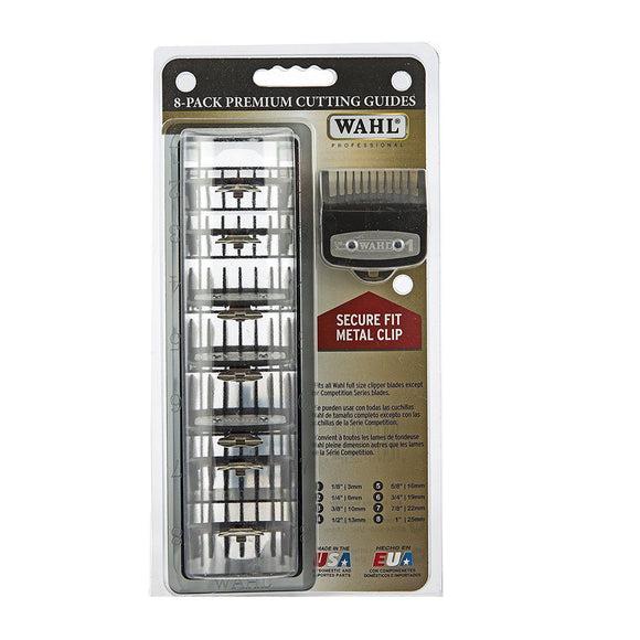 Wahl 8-Pack Premium Cutting Guides Combs #3171-500 - Palms Fashion Inc.