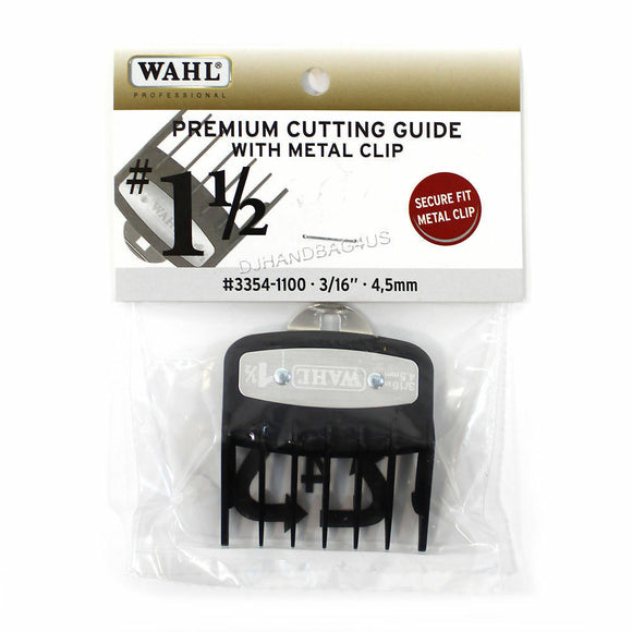 "Wahl Premium Cutting Guide with Metal Clip #1-1/2 (3/16""- 4.5mm) #3354-1100 - Palms Fashion Inc."