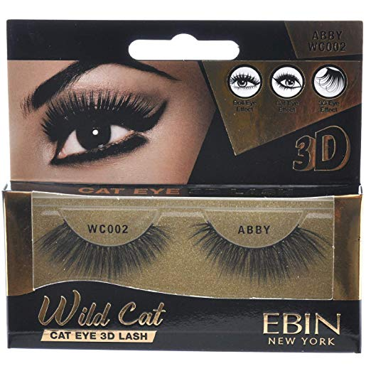 EBIN 3D Eyelash Wild Cat - 12 kinds - Palms Fashion Inc.
