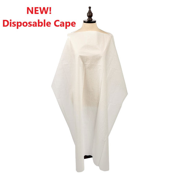 Graham Disposable Barber & Salon Cape #86786 WHITE- (50 per case) - Limit 2 Case - Palms Fashion Inc.