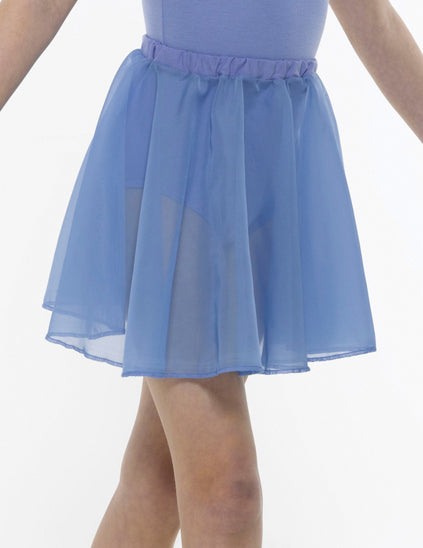 ISTD chiffon ballet skirt sky blue close up