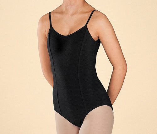 Capezio Black Cotton Ballet Leotard with Princess Seams - CC101 - Large