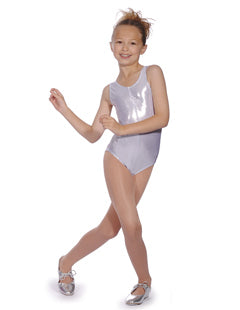 Roch Valley Shiny Metallic Dance Leotard - Gold, Silver or Blue