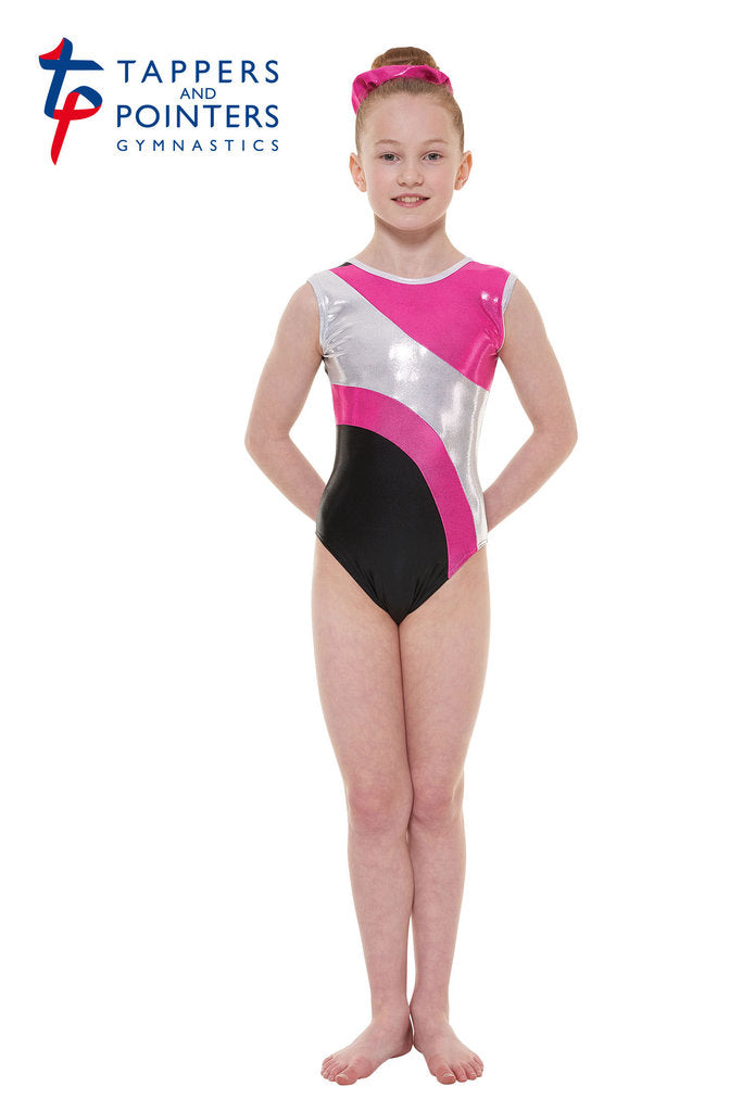 Tapper and Pointers Super Shiny Sleeveless Gymnastics Leotard GYM11 - Ladies Size 10 - Blue