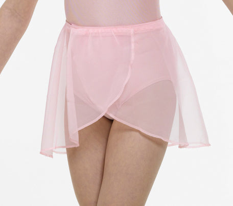 Georgette Wrap Over Ballet Skirt on elastic waistband - Pink, Blue or Lilac
