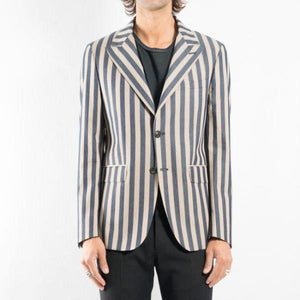 NIKKI – Striped Cotton Blazer