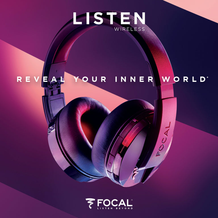 Focal Listen Wireless Closed-Back Dynamic Headphones