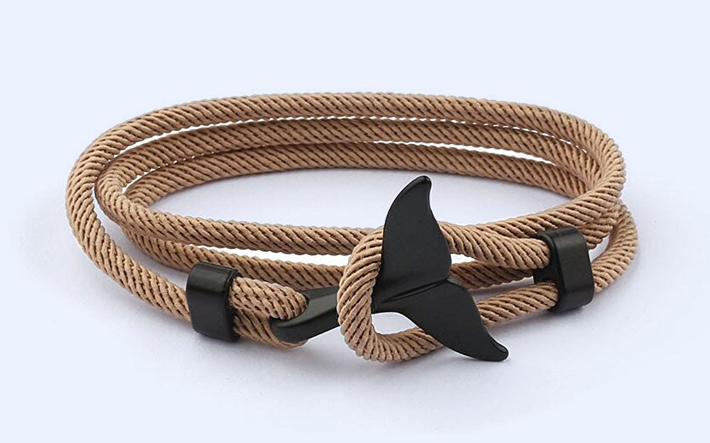 Rope Whale Tail Bracelet by Citrus Reef