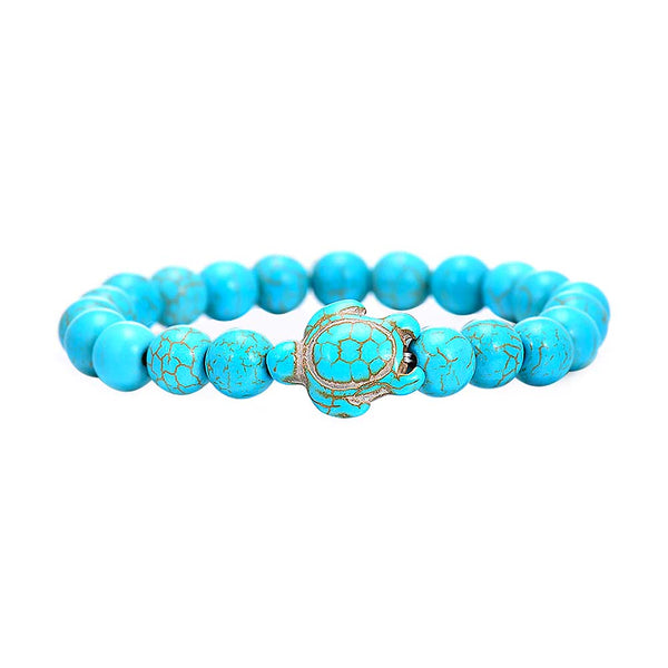 Beaded Turtle Bracelet in Turquoise