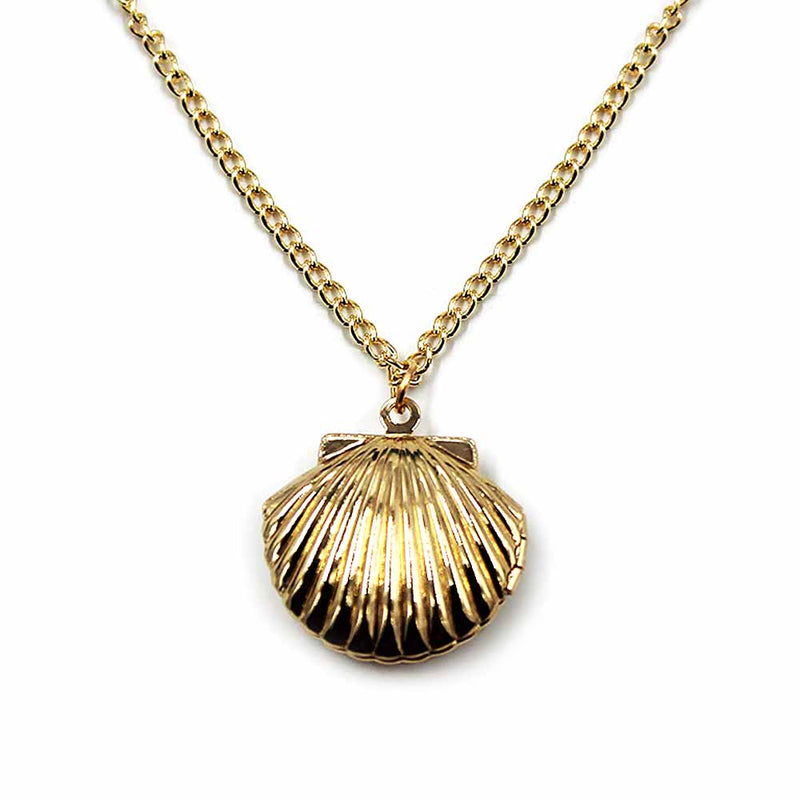 Gold Clam Shell Locket