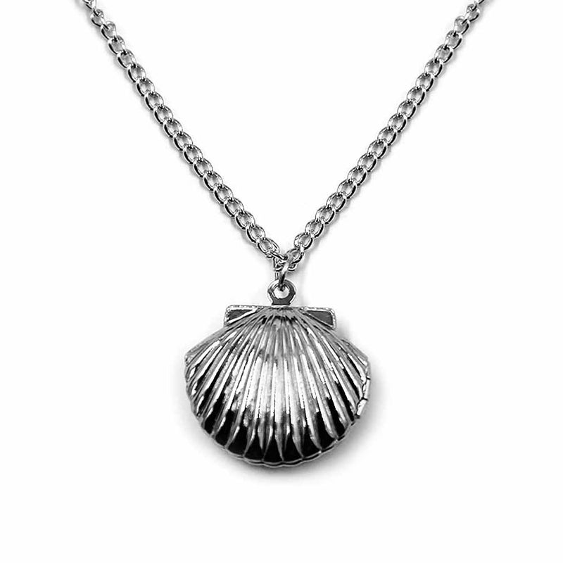 Silver Clam Shell Locket