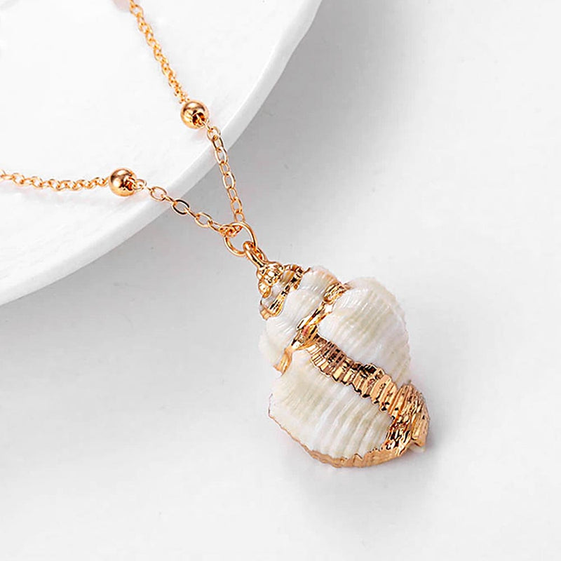 Gold Conch Shell Pendant