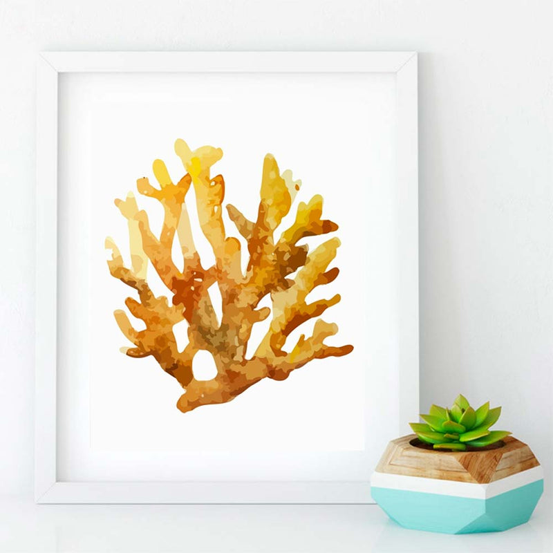 Orange Elkhorn Coral Reef Canvas Print