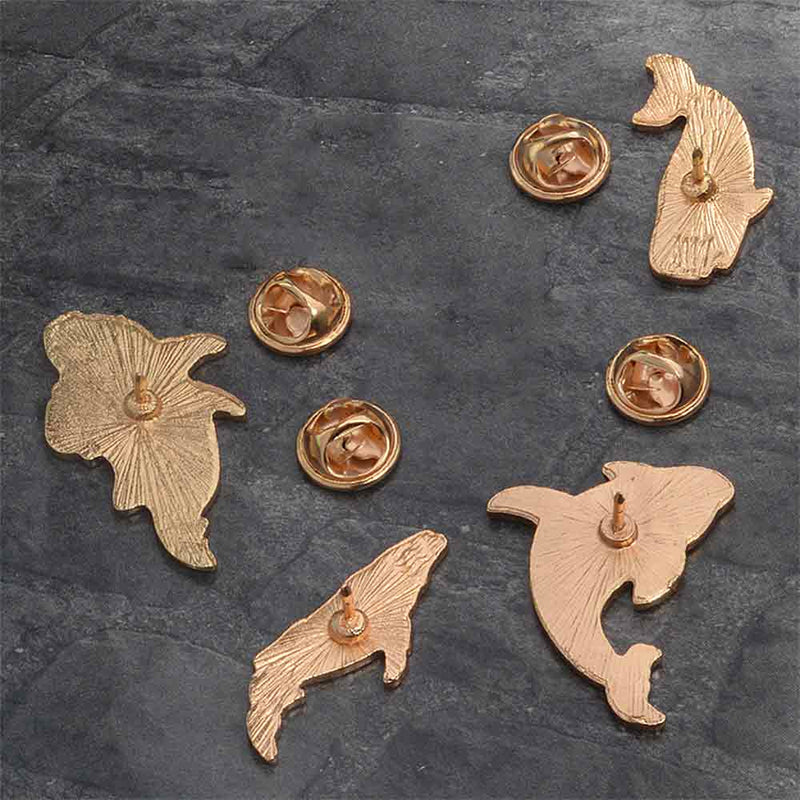 'Cosmic Whales' Whale Brooch Pins