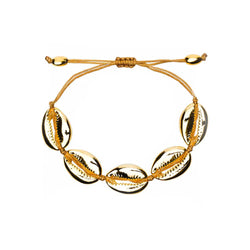 Cowrie Shell Bracelet in Gold