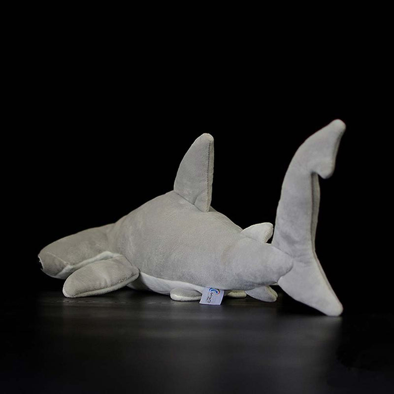 Back view of cuddly toy Hammerhead