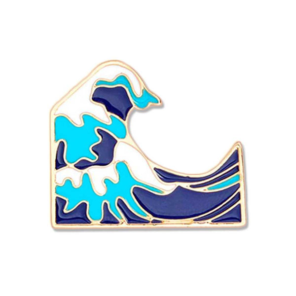 'Great Wave' Brooch Pin