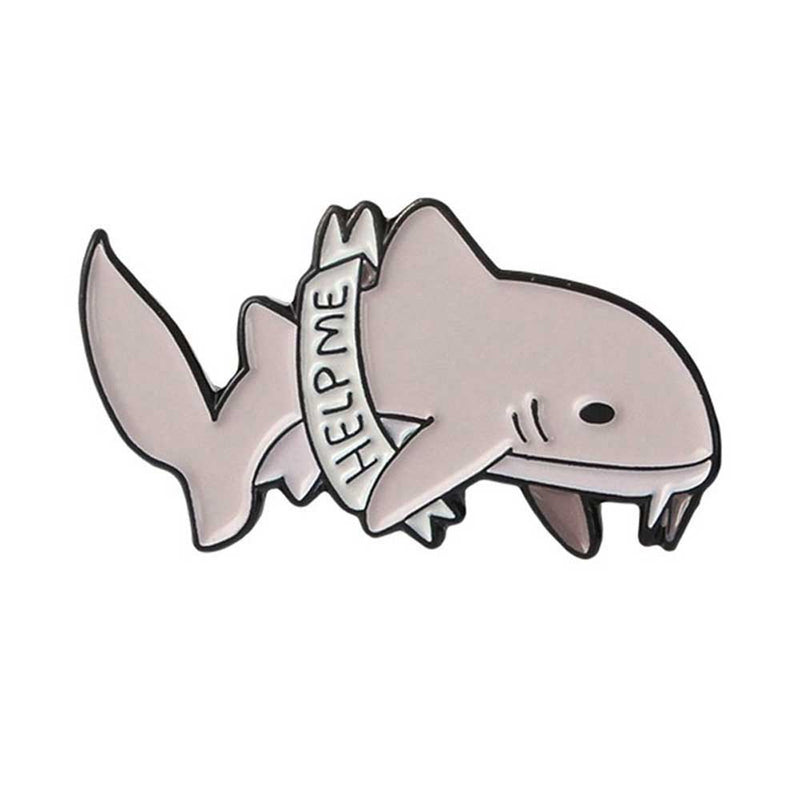 'Help me' Nurse Shark Brooch Pin