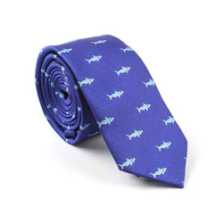Mens Blue Shark Tie