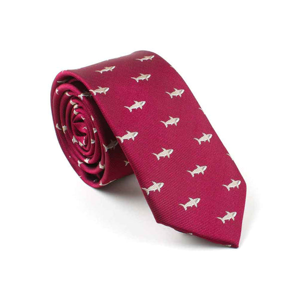 Mens Red Shark Tie