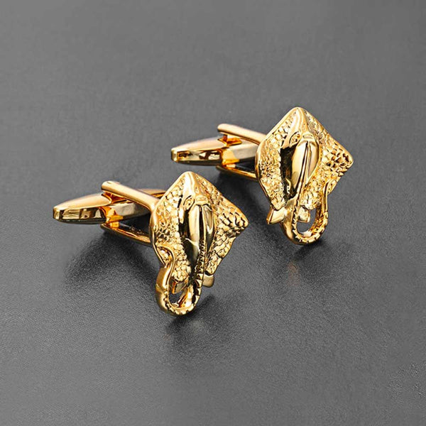 Sting Ray Cufflinks in Gold for Men