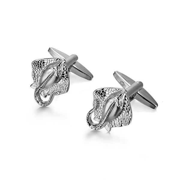 Mens Silver Stingray Cufflinks