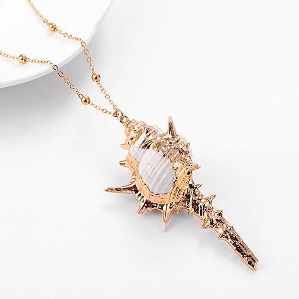 Murex Shell Pendant with Gold detail