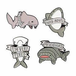 'Save The Sharks' Shark Brooch Pins
