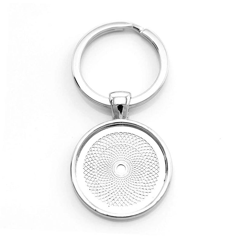 Round Silver Keyring