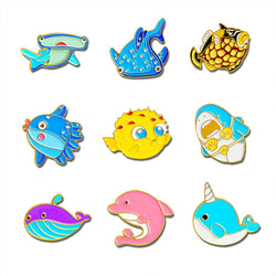 'Sea Cuties' Reef Fish Brooch Pins