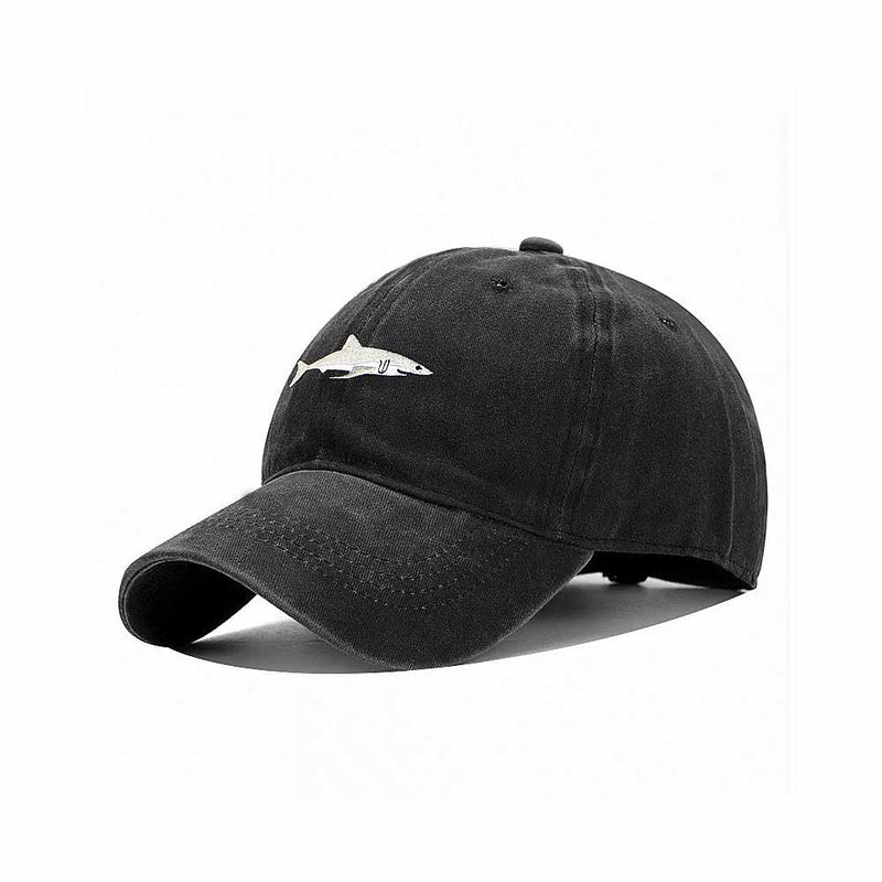 Shark Baseball Cap in Black
