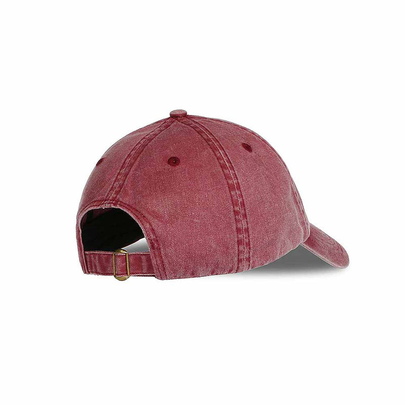 Side view of vintage red baseball cap