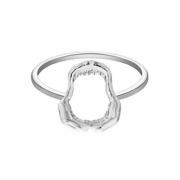 Silver Shark Jaw Ring